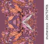 vector decorative floral... | Shutterstock .eps vector #206752906