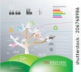 illustration tree vector of... | Shutterstock .eps vector #206768986