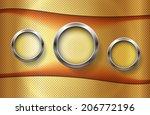 the metallic infographic... | Shutterstock .eps vector #206772196