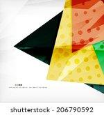 modern 3d glossy overlapping... | Shutterstock .eps vector #206790592