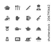 kitchen icons set. | Shutterstock .eps vector #206795662