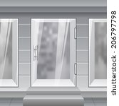 shop front. exterior horizontal ... | Shutterstock .eps vector #206797798