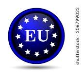 european union icon. internet... | Shutterstock . vector #206799022