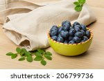 blueberry with leaves in the... | Shutterstock . vector #206799736