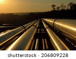 pipeline connection  from crude ... | Shutterstock . vector #206809228