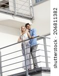 full length of young couple... | Shutterstock . vector #206811382