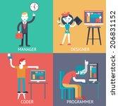web development team...   Shutterstock .eps vector #206831152