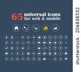 set of universal icons for... | Shutterstock .eps vector #206838532