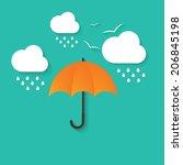 vector illustration of umbrella ... | Shutterstock .eps vector #206845198