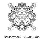 vector zentangle pattern on...   Shutterstock .eps vector #206846506