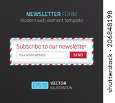 modern newsletter form template ...