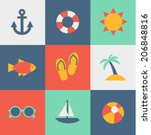 summer icon | Shutterstock .eps vector #206848816