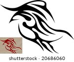 tribal falcon | Shutterstock .eps vector #20686060