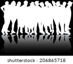 group of people | Shutterstock .eps vector #206865718