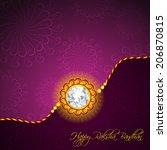 beautiful golden rakhi for... | Shutterstock .eps vector #206870815