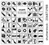 car parts  tools and...   Shutterstock .eps vector #206871988