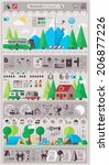 mountain   camping info graphic ... | Shutterstock .eps vector #206877226