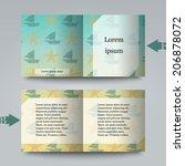 brochure template with summer...   Shutterstock .eps vector #206878072