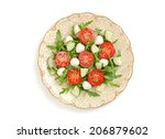 salad with tomatoes and... | Shutterstock . vector #206879602