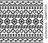 ethnic seamless pattern. aztec... | Shutterstock .eps vector #206897335