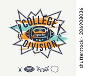 rugby emblem college division... | Shutterstock .eps vector #206908036
