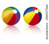 colorful beach ball | Shutterstock .eps vector #206927566