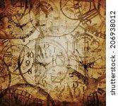 grunge background . watches....   Shutterstock . vector #206938012