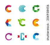 set of letter c logo icons...   Shutterstock .eps vector #206938456