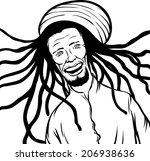 whiteboard drawing   reggae man ...