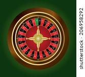 roulette wheel   Shutterstock .eps vector #206958292