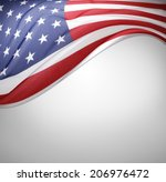 closeup of american flag on... | Shutterstock . vector #206976472
