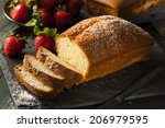 homemade pound cake with... | Shutterstock . vector #206979595
