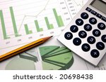 business chart showing... | Shutterstock . vector #20698438