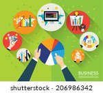 collection of business and... | Shutterstock .eps vector #206986342