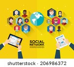 social networking people... | Shutterstock .eps vector #206986372
