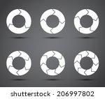 circle arrows set | Shutterstock . vector #206997802