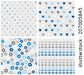 set of white gray blue vector... | Shutterstock .eps vector #207005845