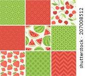 seamless vector patterns set  ... | Shutterstock .eps vector #207008512
