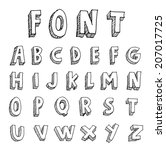 hand drawn alphabet. vector | Shutterstock .eps vector #207017725