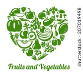 organic food concept. heart...   Shutterstock .eps vector #207019498
