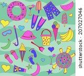 interesting seamless pattern... | Shutterstock .eps vector #207027046