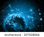 best internet concept of global ... | Shutterstock . vector #207028066