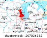 chicago map | Shutterstock . vector #207036382