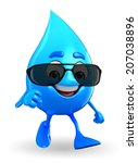 cartoon character of water drop ... | Shutterstock . vector #207038896