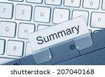 summary | Shutterstock . vector #207040168