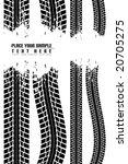 tire track | Shutterstock .eps vector #20705275