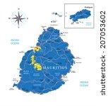 mauritius map | Shutterstock .eps vector #207053602