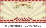 circus red invitation. circus... | Shutterstock .eps vector #207075922