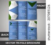tri fold corporate business...   Shutterstock .eps vector #207085126