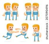 set of mechanic character in... | Shutterstock .eps vector #207090496